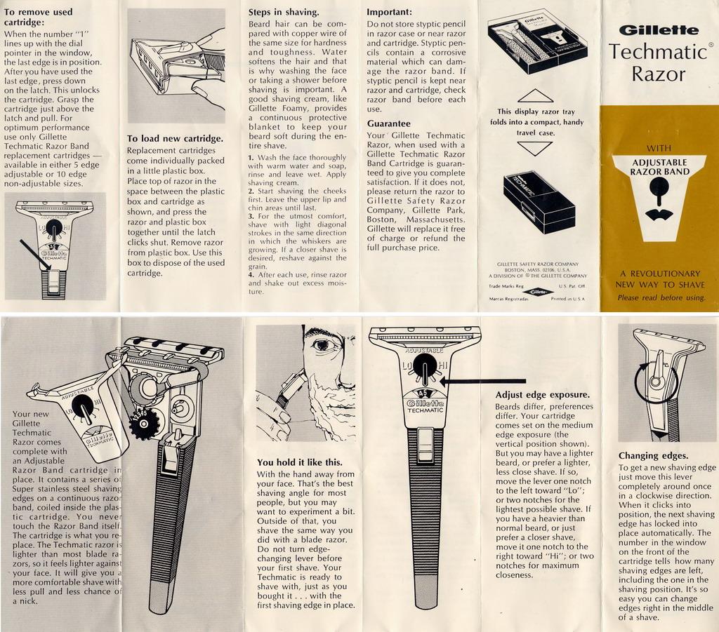 Gillette Techmatic - Schick Instamatic 1970s%20Techmatic
