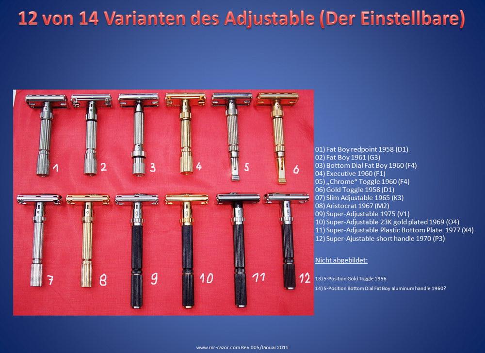 """""""Adjustable family"""" de chez Gillette Rasierertypen-11"""